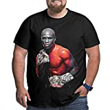 Floyd Mayweather Jr Logo Mens Plus Size Short Sleeve T-Shirt Classic Round Neck Ultra Cotton Tee Tops Black XXL