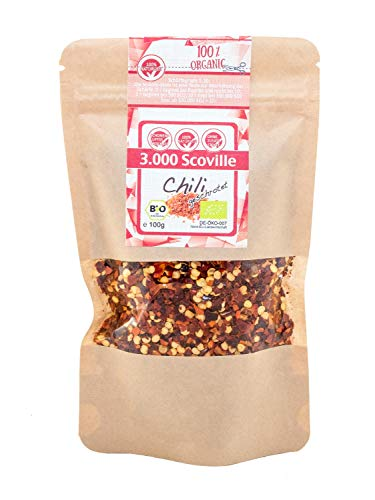 direct&friendly Bio Chili mild geschrotet 3.000 Scoville (100 g)