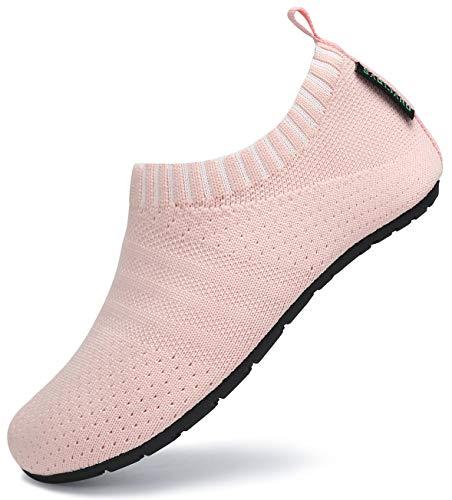SAGUARO Hausschuhe Kinder Pantoffeln Jungen Mädchen Kleinkinderschuhe Rutschfeste Leichte Baby Slippers Stil:083 Pink Gr.28/29