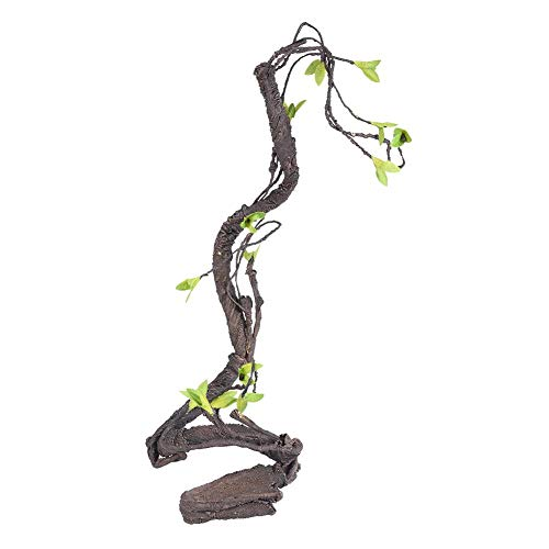 Yosooa Flexible Bend-A-Branch Jungle Vines,Artificial Reptiles Vine Climber Pet Habitat Decor Lizards,Gecko,Frogs, Snakes and Other Reptiles (S)