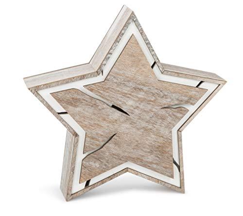 Estrella brillante Diseño corteza de árbol compacto