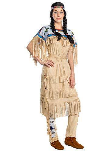 Maskworld Nscho-tschi Kostüm - Indianerin Western - Größe: L - Lizenz-Kostüme aus den Karl-May-Filmen für Karneval und Motto-Party