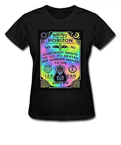 Camiseta Bring Me The Horizon Tabuleiro Ouija babylook infantil e adulto (Camiseta - P, Preto)