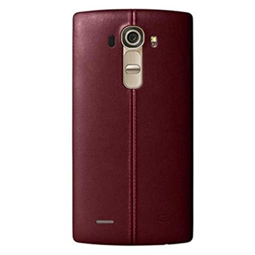 LG Leather Battery Cover for LG G4 - Burgundy Red