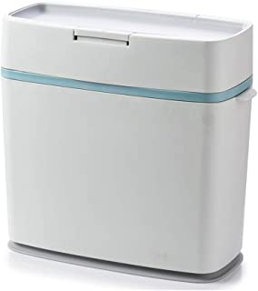 C-J-Xin Small Garbage Can, Indoor Office Garbage Sorting Box Rectangle Easy to Clean with Lid Silent Trash Can 33 * 16.5 *...