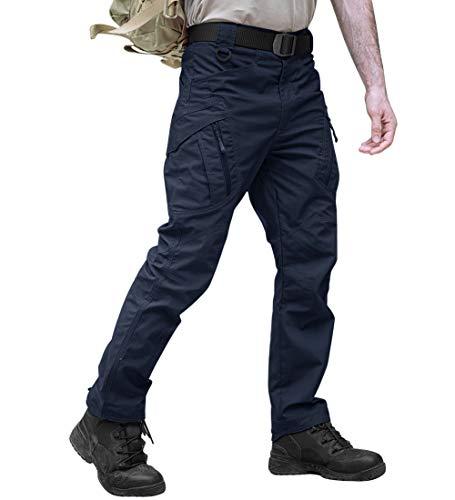 TACVASEN - Pantalones de senderismo para hombre (algodón), varios bolsillos