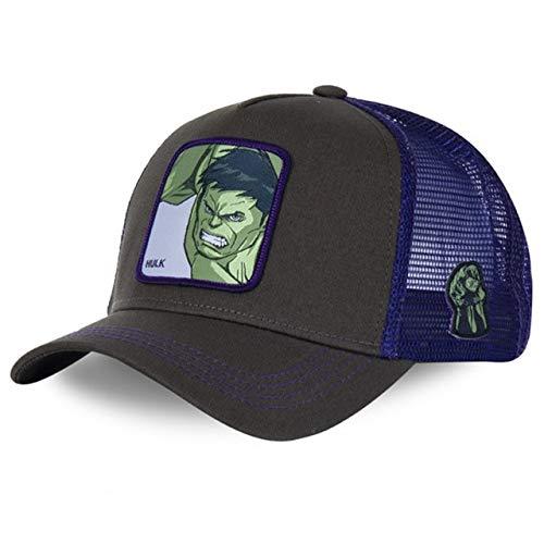 Nueva Gorra de bisbol de algodn Snapback para Hombres, Mujeres, Hip Hop, pap, Gorra de Malla, Gorra de Camionero-New Hulk