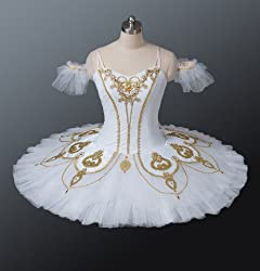 White Classical Professional Cabriole Ballet Tutu for Competition & Performance