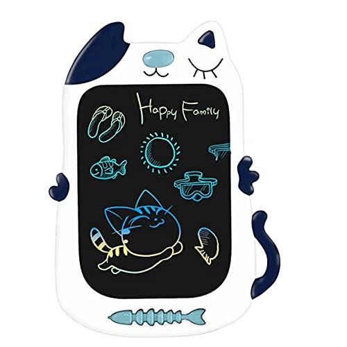 ZOVCAL Tavoletta Grafica Bambini - 8.5 Pollici LCD Display Colorato Tavolo da Disegno Cancellabile, Giocattoli per 3-10 Bambini, Forma di Gattino, Miglior Regalo di Giocattoli Educativi