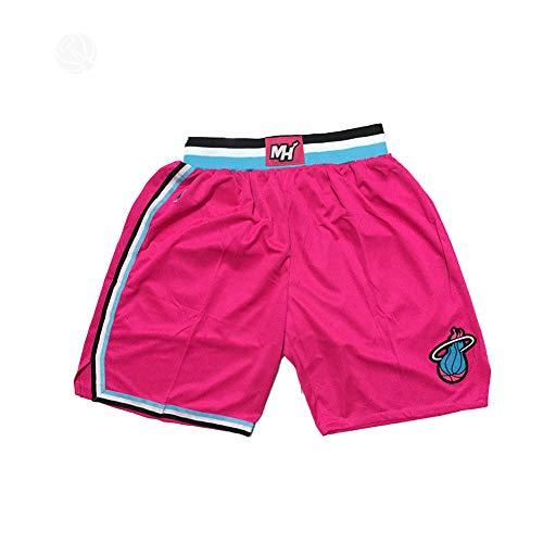 Bam Adebayo Camisetas De Baloncesto Pantalones Cortos Miami Heat 13#, Ropa Deportiva Swingman, Malla Transpirable Secado Rápido Chaleco+Pantalones Cortos, Colorido Rosa B-M