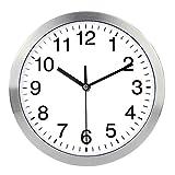 come2newmall Reloj de pared grande de 30,48 cm, sin tic-tac, de cuarzo, silencioso, estilo moderno, bueno para el hogar, cocina, sala de estar, dormitorio, oficina, marco de metal de acero inoxidable