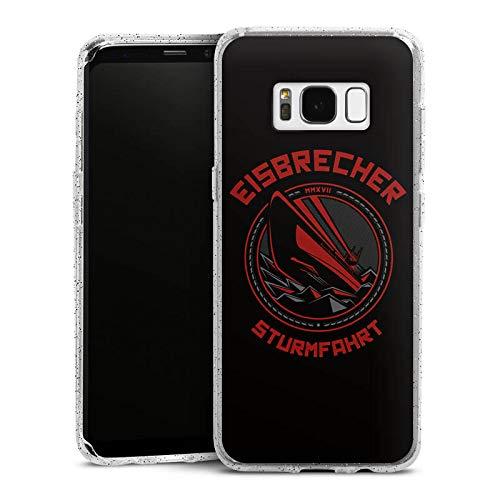 DeinDesign Glitzer Hülle kompatibel mit Samsung Galaxy S8 Silikon Case Glänzend Schutzhülle Eisbrecher Merchandise Musik