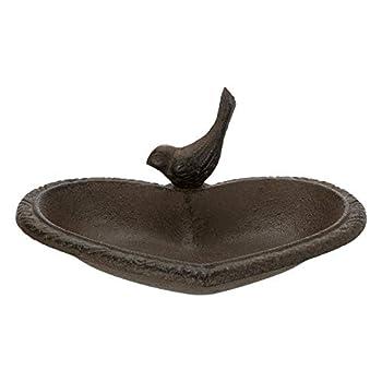 TRIXIE - Abreuvoir/mangeoire ou Baignoire Oiseau en Fonte Forme Coeur - TR-55001
