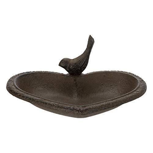 TRIXIE - Herzförmiges Vogelfutter/Stall oder Badewanne aus Gusseisen - TR-55001
