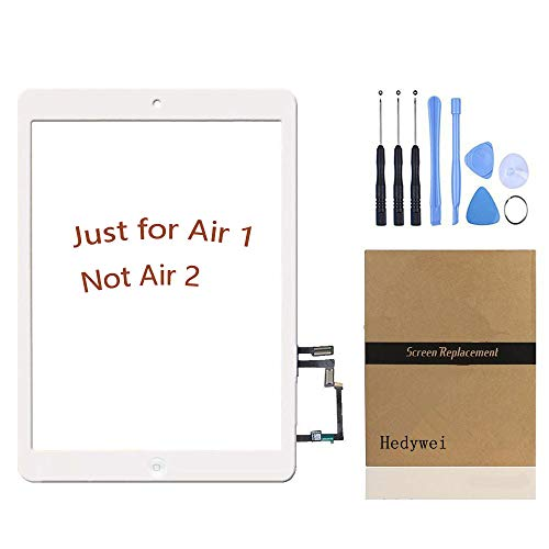 Schermo tattile di ricambio Touch Screen Digitizer per iPad Air iPad 5 con Tasto HOME Bianco