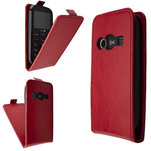caseroxx Flip Cover für Doro 1360/1361 / 1362 (Flip-Cover, rot)