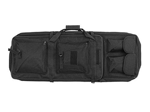 BEGADI Langwaffentasche/Futteral mit Doppelfach & Aussentaschen, 85 x 30cm - schwarz