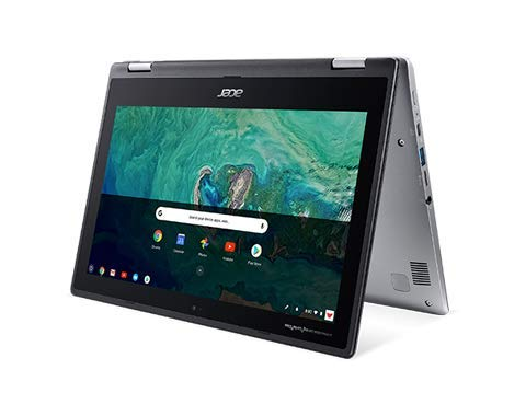 Acer 11.6inch IPS Touchscreen Convertible 2-in-1 Chromebook, Intel Celeron N3350 Processor Up to 2.4 GHz, 4GB LPDDR4 Memory, 32GB SSD, Chrome OS-(Renewed)