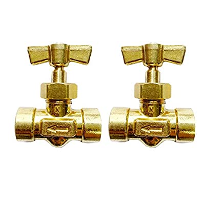 "VIS 105B Brass Replacement Control Needle Valve 1/4"" Female NPT(2pcs) from VIS"