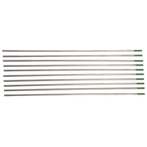 SALUTUYA Artykuły przemysłowe pręt elektrody wolframowej do produktów aluminiowych i stopowych przyjazny dla środowiska 10 szt. WP do spawania cienkiej stali nierdzewnej 2 x 175 mm