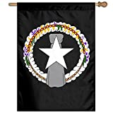 "Lankony Flag of The Northern Mariana Islands Flag 27""X37"" for Family Garden Decor Semitransparent Home Flag Wall Decorate"