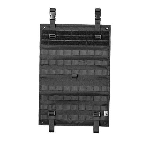 OneTigris Taktische Rückenlehnenschutz Molle Auto Rücksitz-Organizer Mehrzweck Autositzhalter EDC Panel (Schwarz-Update Version)|MEHRWEG Verpackung