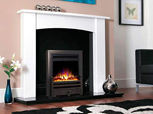 """New Designer Celsi Fire - Electriflame XD Hearth Mounted Electric Fire 16"""" Bauhaus Black"""