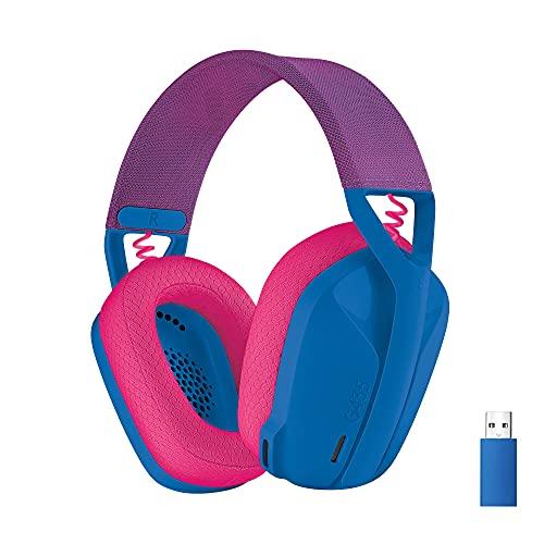 Logicool G ロジクール G ゲーミングヘッドセット G435 LIGHTSPEED & Bluetooth ワイヤレス ヘッドセット 軽量 165g   内蔵マイク   18時間連続使用   Dolby Atmos対応 PC PS4 PS5 スマホ 対応 G435BL 国内正規品
