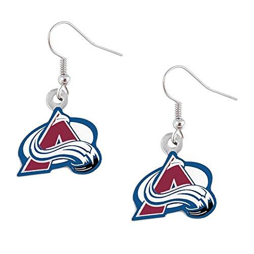 aminco Colorado AVS Avalanche Dangle Logo Earring Set NHL Charm Gift