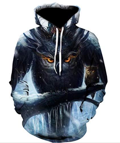 Luotears 3D Hoodie Mode lässig drucken kreative Hoodie mehr Kleintier Hoodie männlich/weiblich universal @ Animal P_XXL