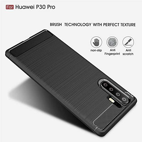 CoverKingz Handyhülle für Huawei P30 Pro - Silikon Handy Hülle P30 Pro - Soft Case Carbon Farben schwarz