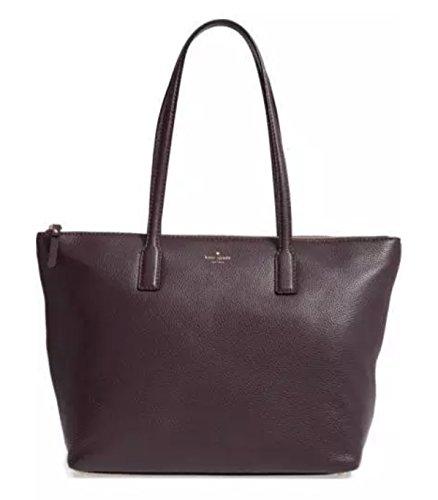 Kate Spade Young Lane Nyssa Mahogany Leather Tote Bag Handbag