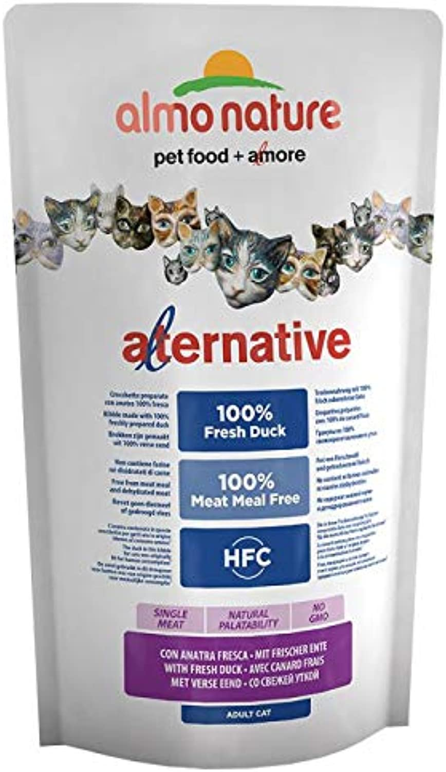 Almo Natura HFC Alternative Premium Dry Food for Adulti Cats with Fresh Duck Economy Pack 3x 2 kg