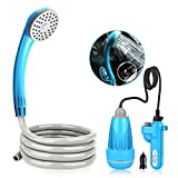Riigoo Portable Camping Shower Camping Shower Outdoor Shower Pump...