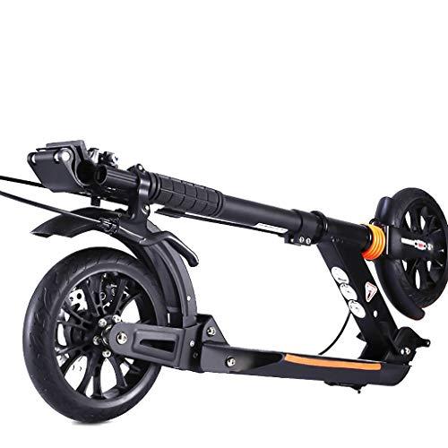 Cityroller Erwachsene, Roller, Erwachsener, Der Zweiradroller, 2 Durchmesser-20CM PU-Räder, Doppeltes Bremssystem-justierbare Höhe Faltet Tragfähigkeit 100KG (Nicht Elektrisch)