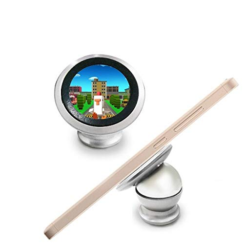 Puzzel Cartoon ChickenGo Pixel Game Magnetische Telefoon Mount Auto Dashboard Houder Stand 360 Graden Rotatie Gift