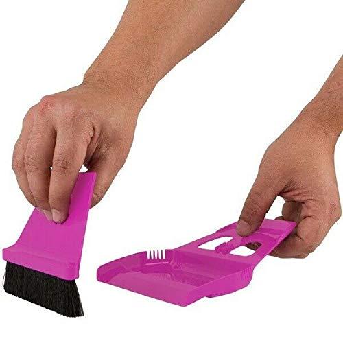 Mini Small Broom and Dustpan Set The Best Mini Hand Broom - Pink-Floor Care Products-Broom mop Dustpan-Casabella Dustpan-Casabella Dustpan and Brush-Restaurant Broom and Dustpan