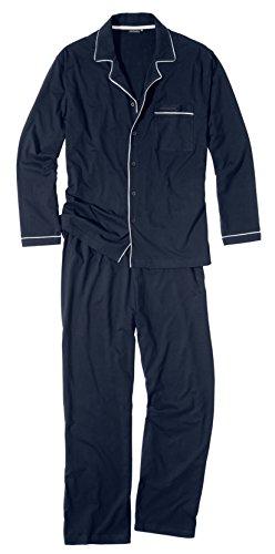 Götzburg Herren Schlafanzug Pyjama blau