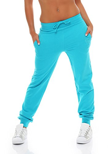 Gennadi Hoppe Damen Jogginghose Trainingshose Sweat Pants Sporthose Fitness Hose,türkis,Medium