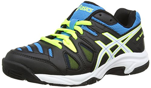Asics Gel-game 5 Gs, Chaussures de Tennis Mixte enfant - Blanc (onyx/white/atomic Blue 9901), 32.5 EU (13 Child UK )