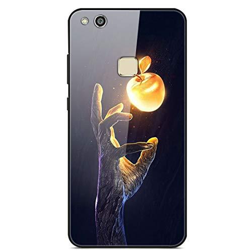 LTao-case YLBL Funda para Huawei P10 Lite Was-LX1 Was-LX2 Was-LX3 WAS-LX1A Funda Cristal Templado + Marco de Silicona 23