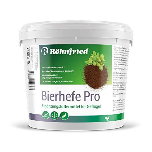 Röhnfried Bierhefe Pro 1500g I B-Vitamine, Aminosäuren, Mineralien & Spurenelemente I ideal während der Aufzucht & Mauser