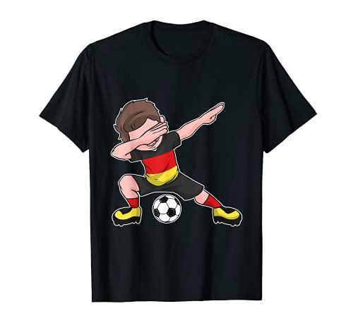 Fußball Deutschland Trikot - Dabbing Fußball Junge deutsch T-Shirt