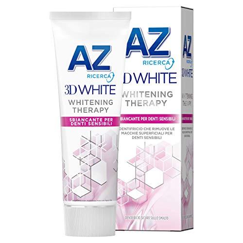 Dentifricio AZ 3D White Whitening Therapy Sbiancante Denti Sensibili, Sapore Di Menta- 75 ml