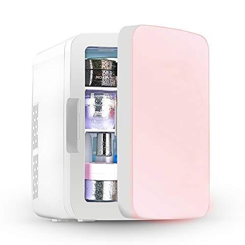 SHKUU Mini refrigerador portátil Compacto 10 litros para Dormitorio, Oficina, Dormitorio, Coche, Ideal para Cuidado Piel y cosméticos