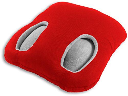 Leschi   Cojín calientapiés (mantiene los pies calientes)   36872   Square   Color: Fuego/Niebla