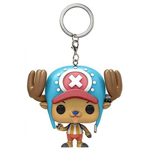 ZEwe Pop Populaire One Piece Tony Tony Chopper Poche Poche Poupée Porte-clés pour Sacs à Main Q Version Mini Anniversaire Cadeau de Vacances