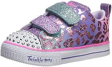 Skechers Kids Girls' Shuffle LITE-Leopard Cutie Sneaker, Multi, 7 Medium US Toddler