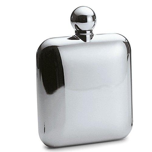 Philippi - Churchill Flachmann - 11,5 cl (115 ml) - Edelstahl poliert mit Schraubverschluss, auslaufsicher, Silber Klassiker, Hip Flask