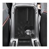 YEE PIN Caja de almacenamiento compatible con 2021 2020 Seat Leon 4 MK4 Cupra ST año de construcción Consola Central Organizador de reposabrazos Accesorios con alfombrilla antideslizante